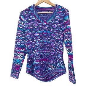 Albinaas Alpaca Aztec Peruvian Tribal Colorful Knit Sweater Size S